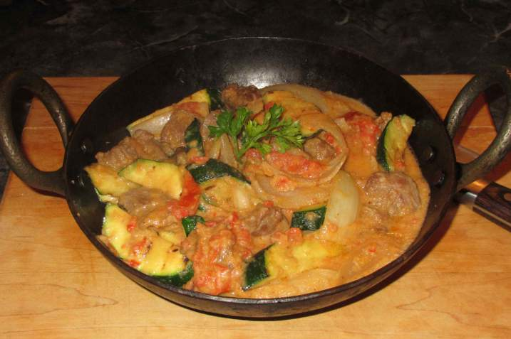 A Malaysian-style Curry using Sambal Belacan