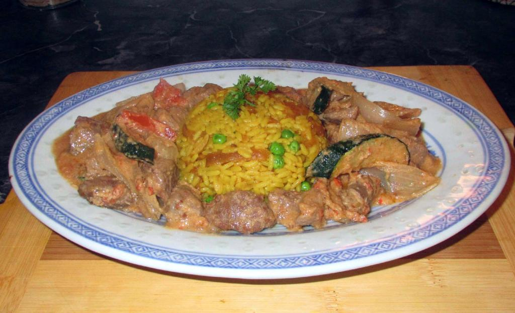 Sarawak Curry served with Rice