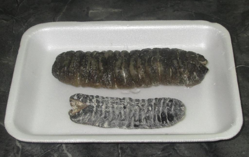 Dried Sea Cucumber before and after Soaking