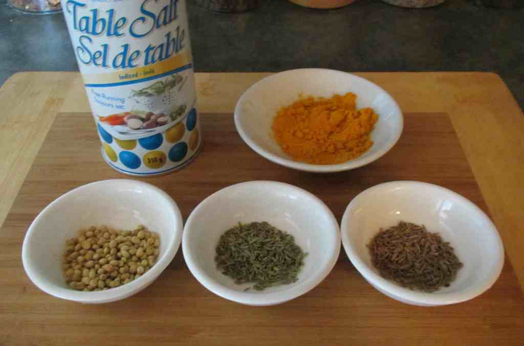 Dry Spices for use in Lamb Curry with Fresh Fenugreek