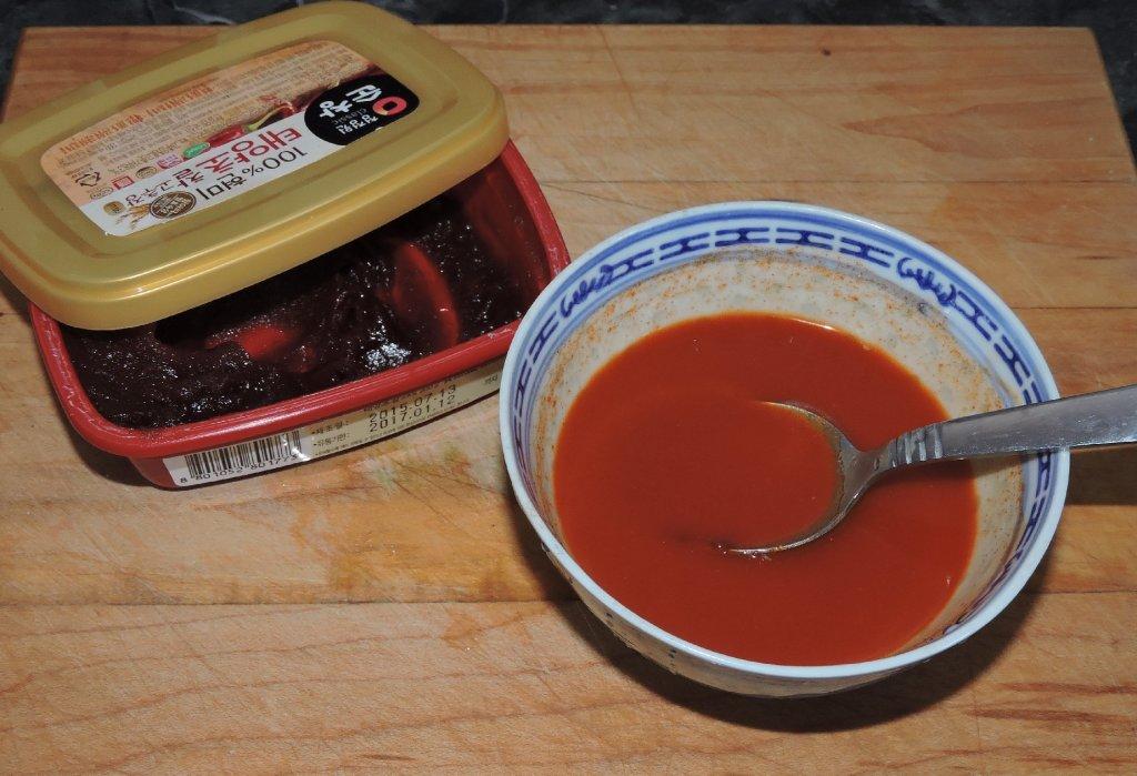 Preparing a Sauce with Gochujang