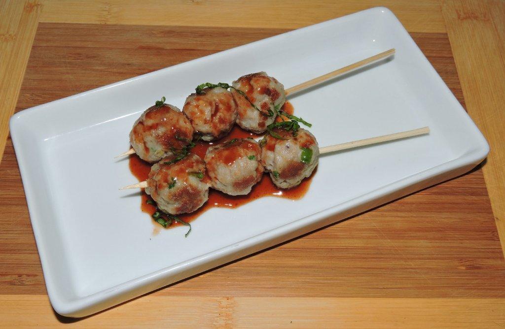 Skewered Shrimp and Pork Balls
