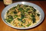 Udon with Mushrooms and Greens