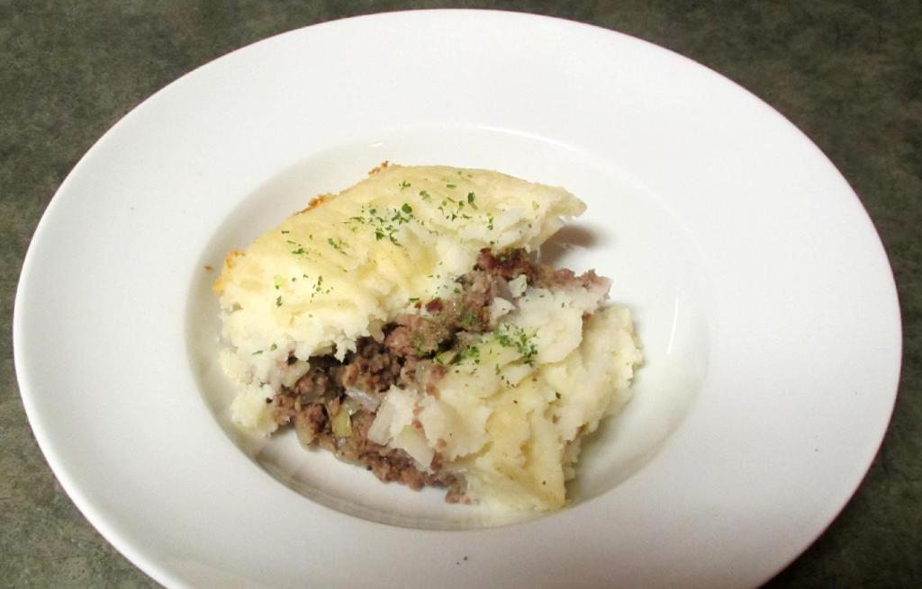 A serving of Classic Shepherd's Pie