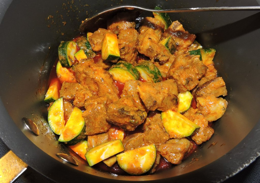 Finishing Lamb Curry Pan-Asian Style