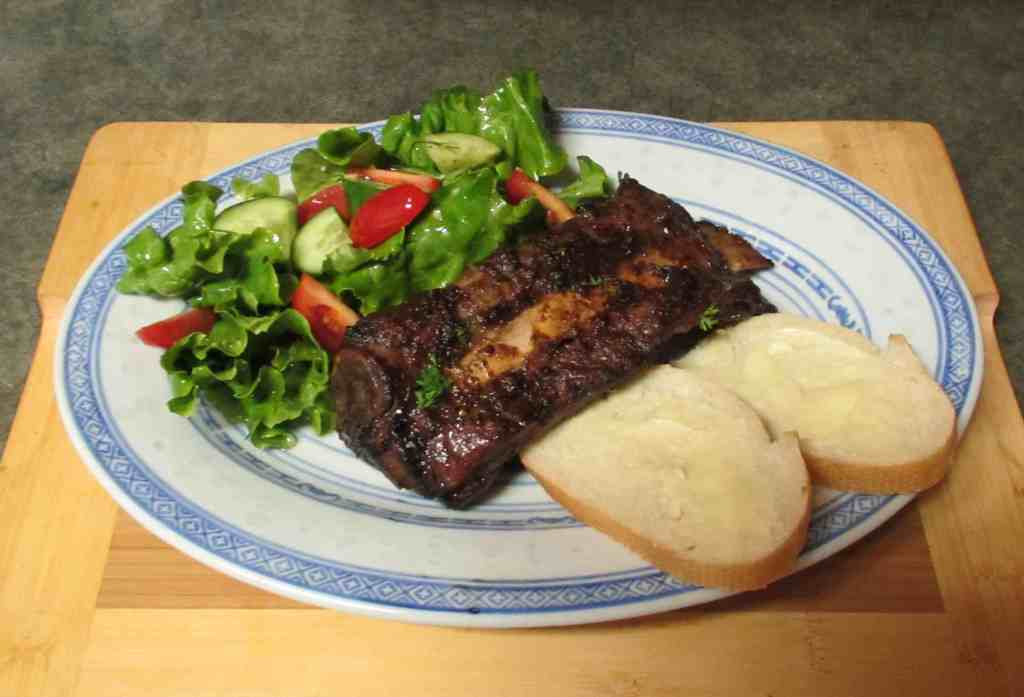 A serving of Oven 'Barbecued' Beef Ribs