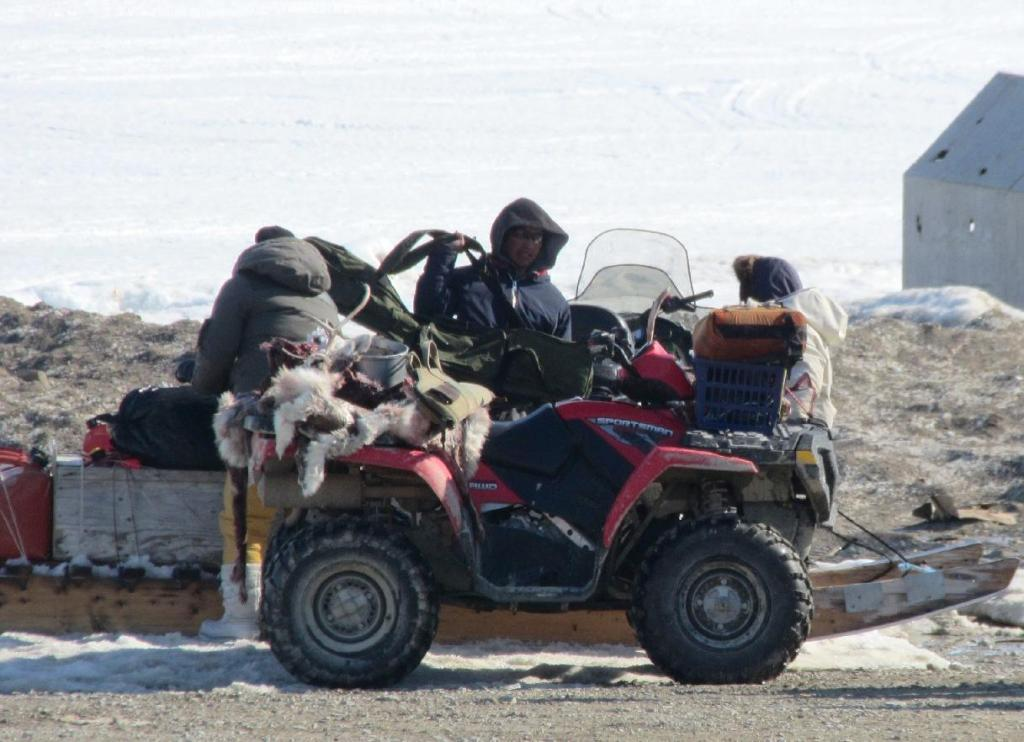 Caribou Hunters Returning