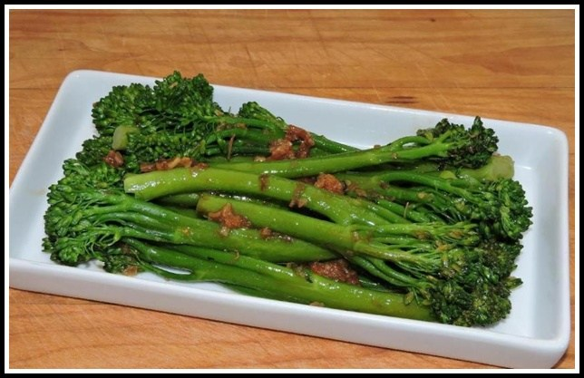 Broccolini with XO Sauce.