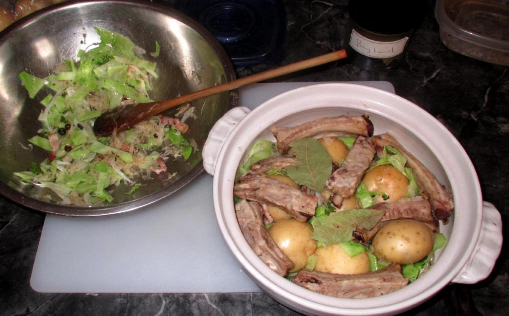 Layering Meat and Vegetables for Alsatian Hotpot