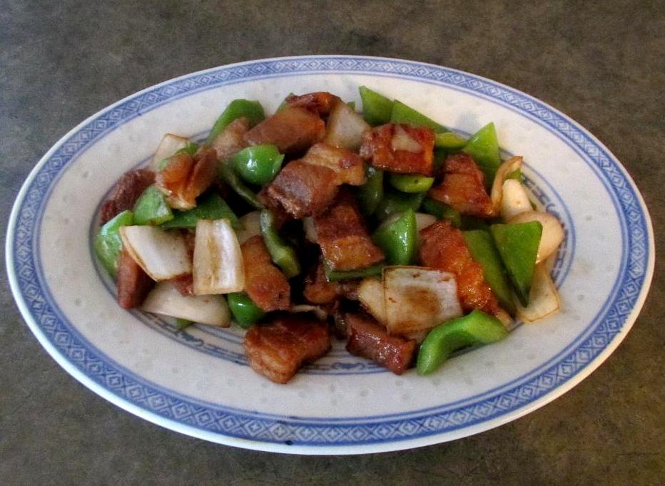 Crispy Pork with Green Peppers – 鮮青椒回鍋肉