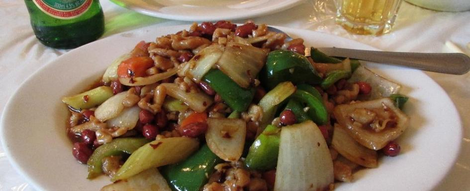 Kung Pao Chicken at the Keung Kee Restaurant in Montreal