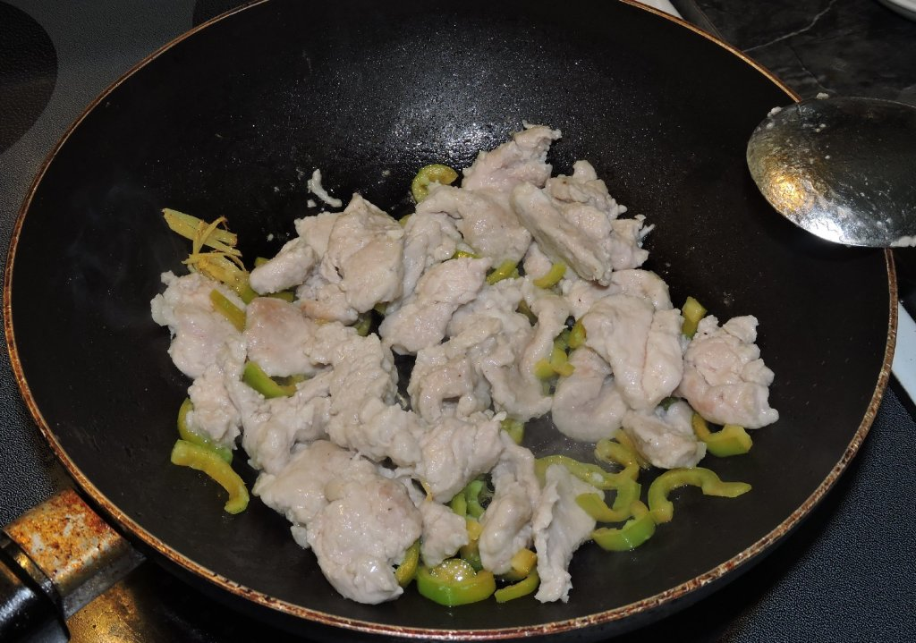 Stir-frying Pork with Chilies