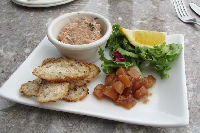 Salmon Rillettes at Lapointe's Restaurant in Ottawa