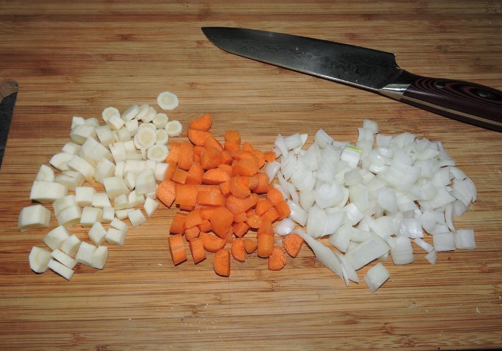 The fresh vegetables for Split-Pea Soup