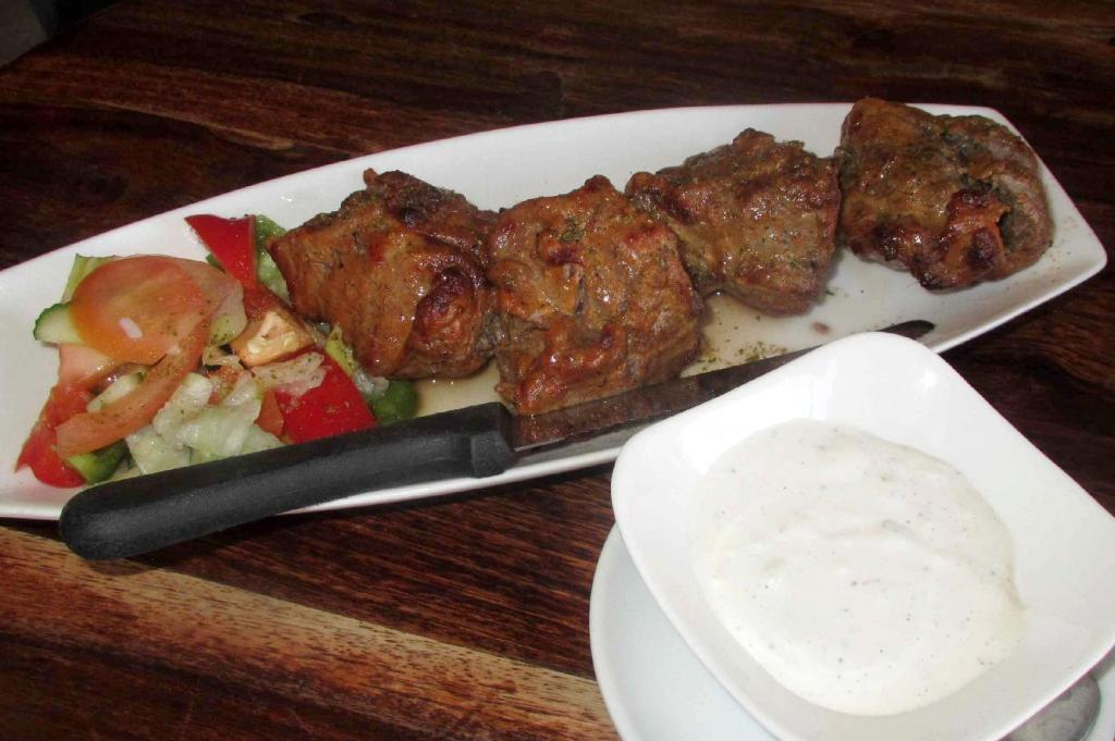 Lamb Kebab at the Devi Indian Restaurant in Montreal