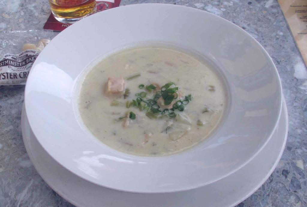 Seafood Chowder at Peter Devine's Irish Pub in Ottawa