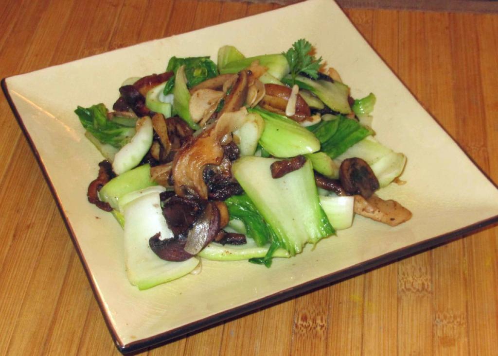 Italian-style Bok Choy with Mushrooms
