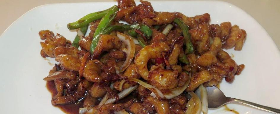 General Tso Chicken at the New Mitzi Restaurant in Vancouver