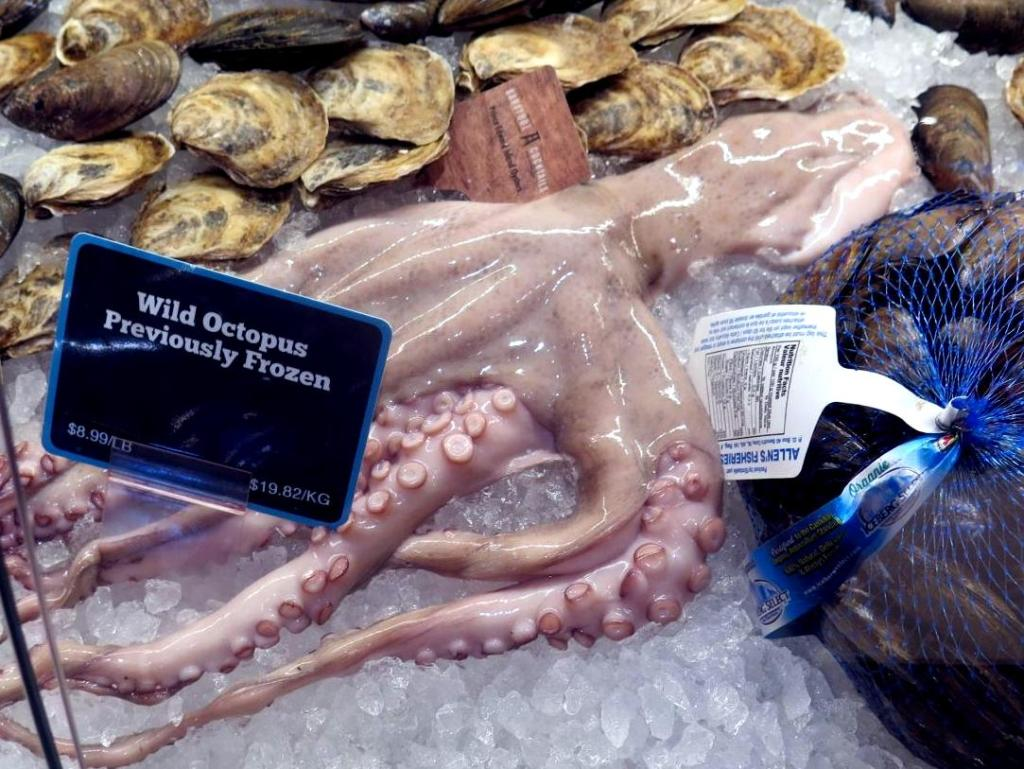 An Octopus, or 八爪鱼, at the Fishmonger's