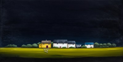 Michele Rose A Night Out 24 x 48 Acrylic on Canvas