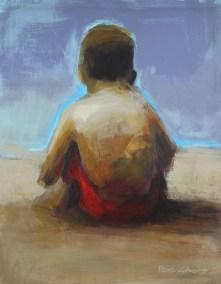 Peter Colbert Beach Day 24 x 30 Acrylic on Canvas (Framed)