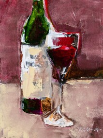 Peter Colbert I'm Wine Thank You 12 x 16 Acrylic on Paper on Board