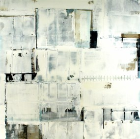 "Aria 60"" x 60"" Mixed Media on Panel with Resin"