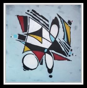 """""""Come Sail Away"""" 36"""" X 36"""" Acrylic on Canvas Framed."""