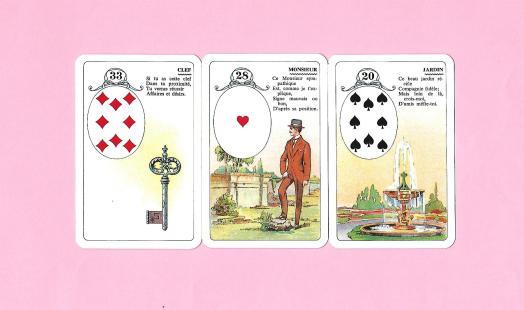 3 cartes du petit Lenormand