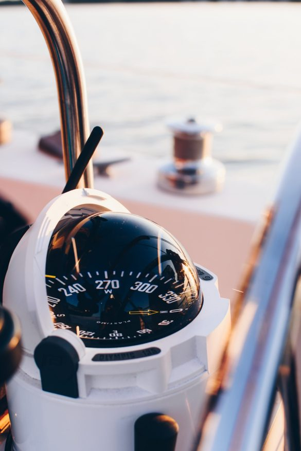 Compass on a ship