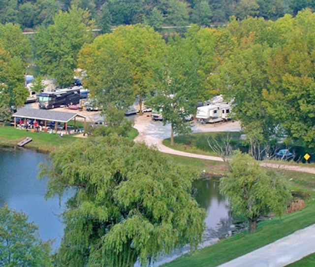 Aerial View Of Sycamore Rv Resort