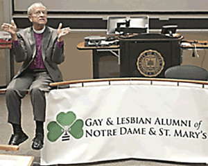 Gene Robinson honored by Notre Dame Gay And Lesbian Alumni (GALA) at Notre Dame