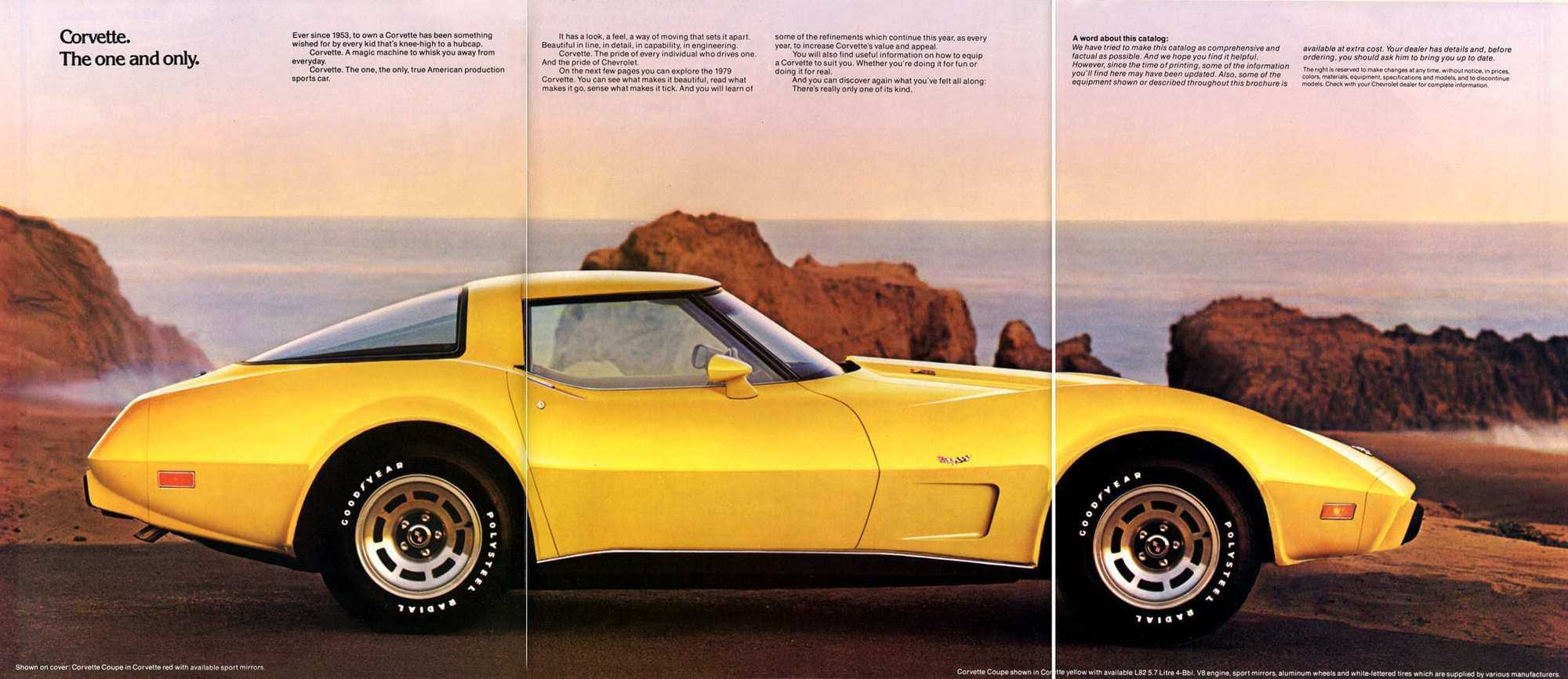 hight resolution of 1979 yellow corvette tri fold advertisement