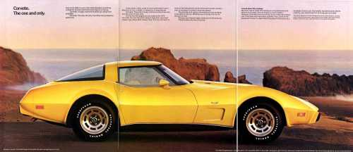 small resolution of 1979 yellow corvette tri fold advertisement