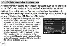 Canon 1D X – set/recall shooting mode function