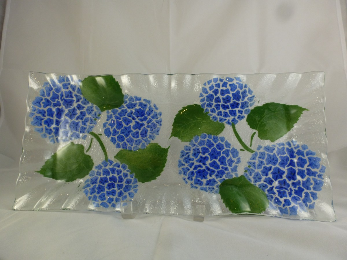 Hydrangea Large Cheese Tray