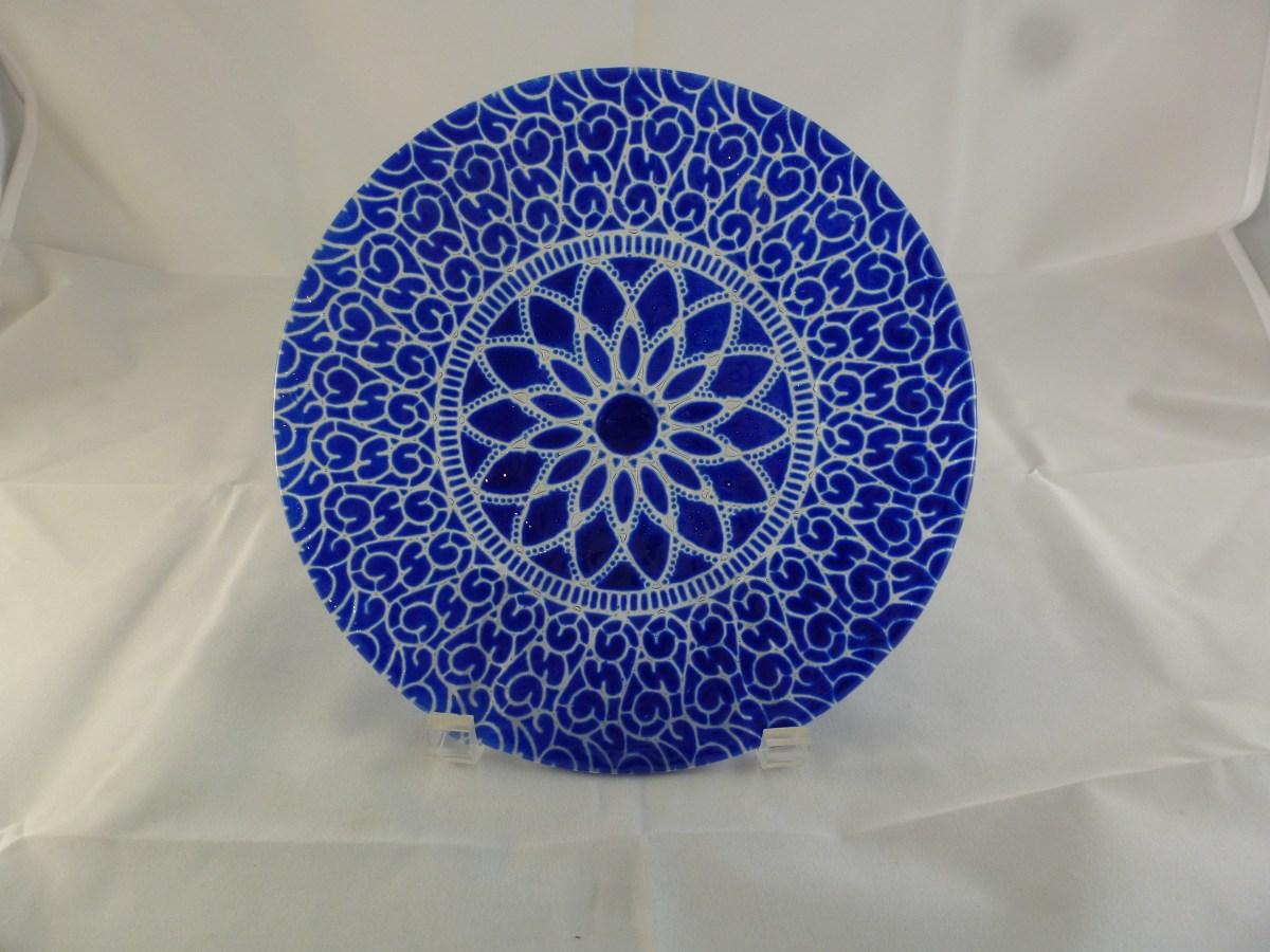 Cobalt Embassy Luncheon Plate