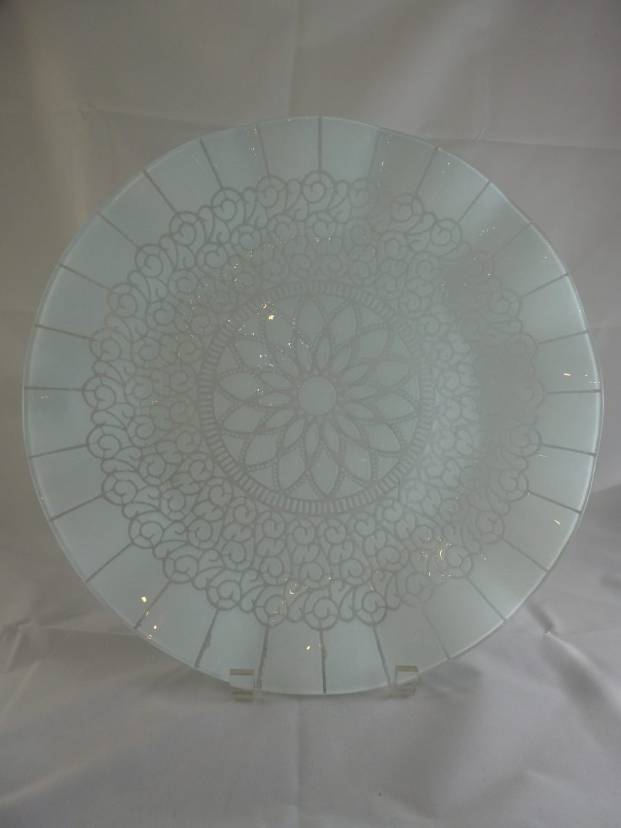 White Embassy Cake Plate