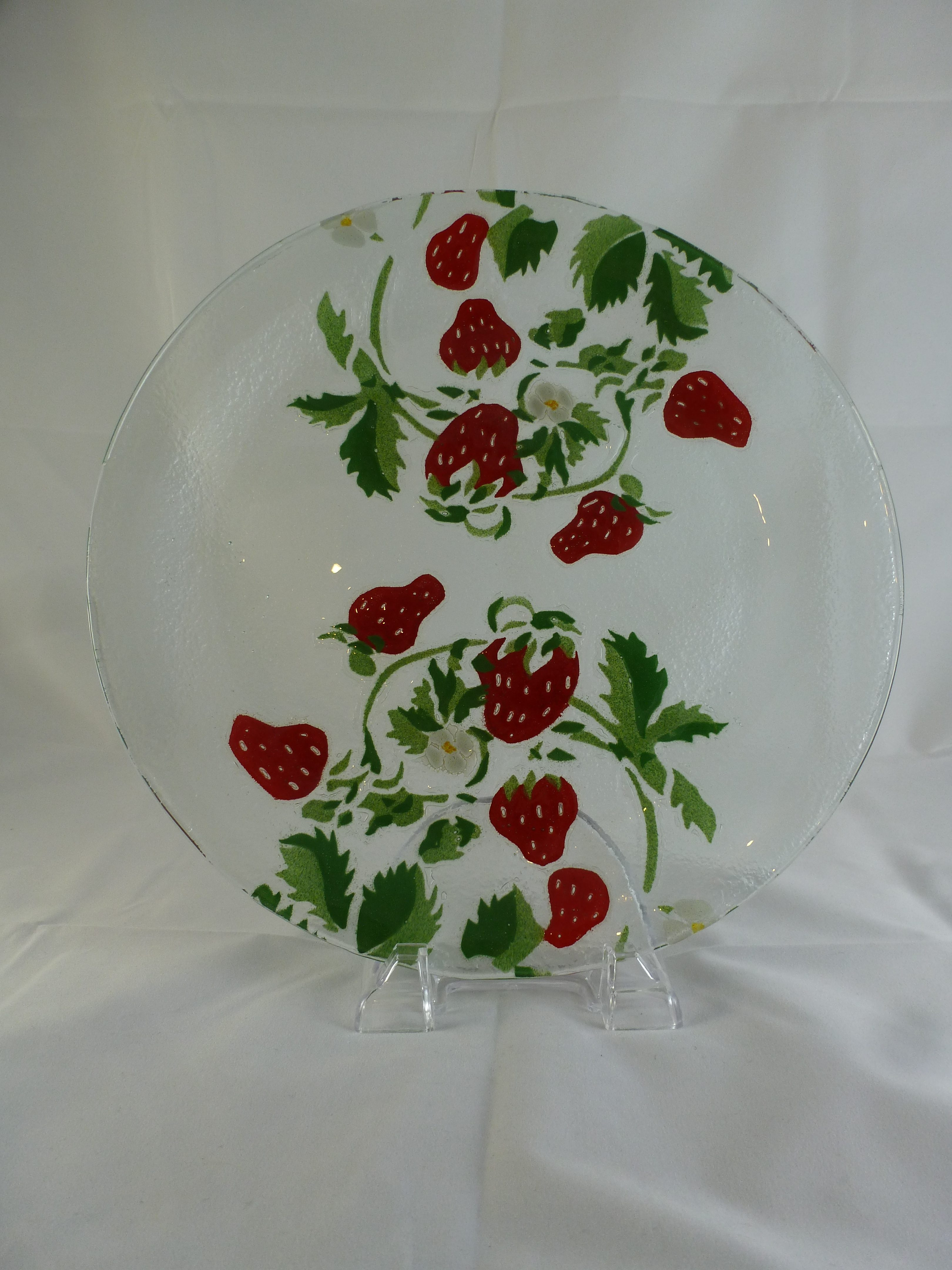 & Strawberry Large Dinner Plate