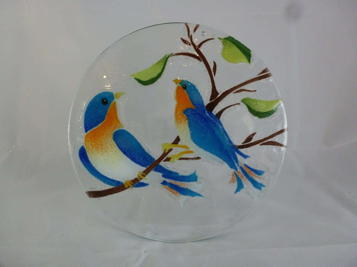 Bluebirds Suncatcher