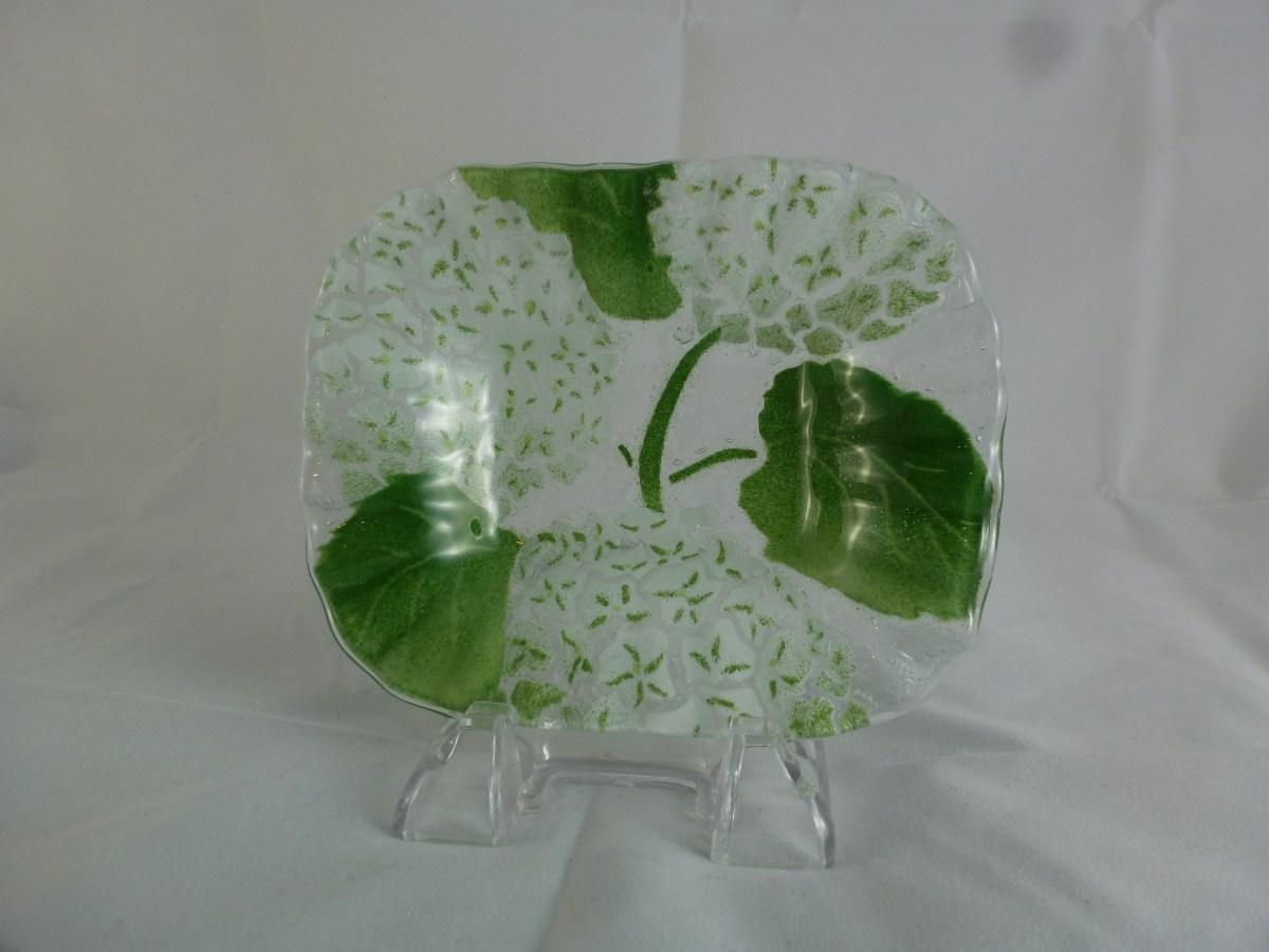 White Hydrangea Soap Dish