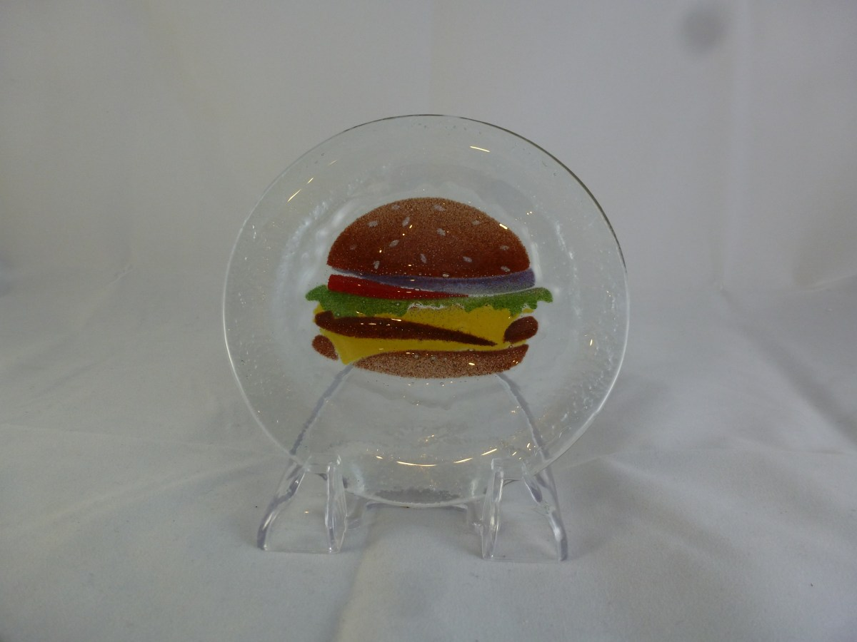 Mini Burger Plate (with the fixings)