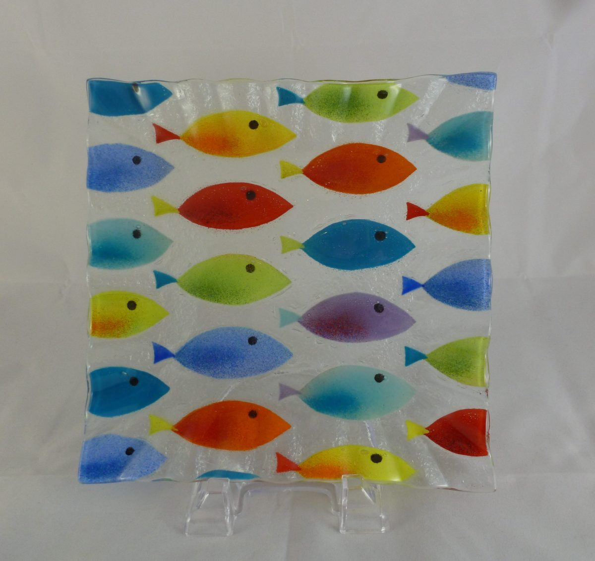 Multi Colored Fish Small Square