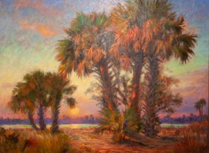 PALM SUNSET 40X30