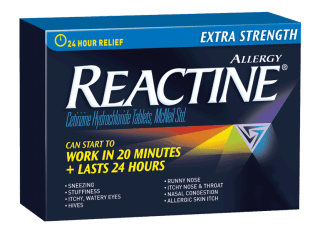 Reactine Extra Strength - allergy pills are an essential item to bring as part of your first aid travel kit