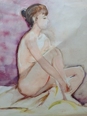 Female Nude ( water colours)