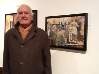 Bolton Open Art Exhibition 2014 with his entry 'Domino Players'