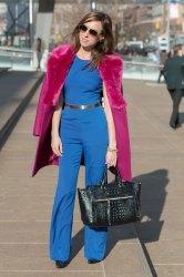 american hustle street bebe jumpsuit nyfw york 70s sydne week fur inspired pink hustling