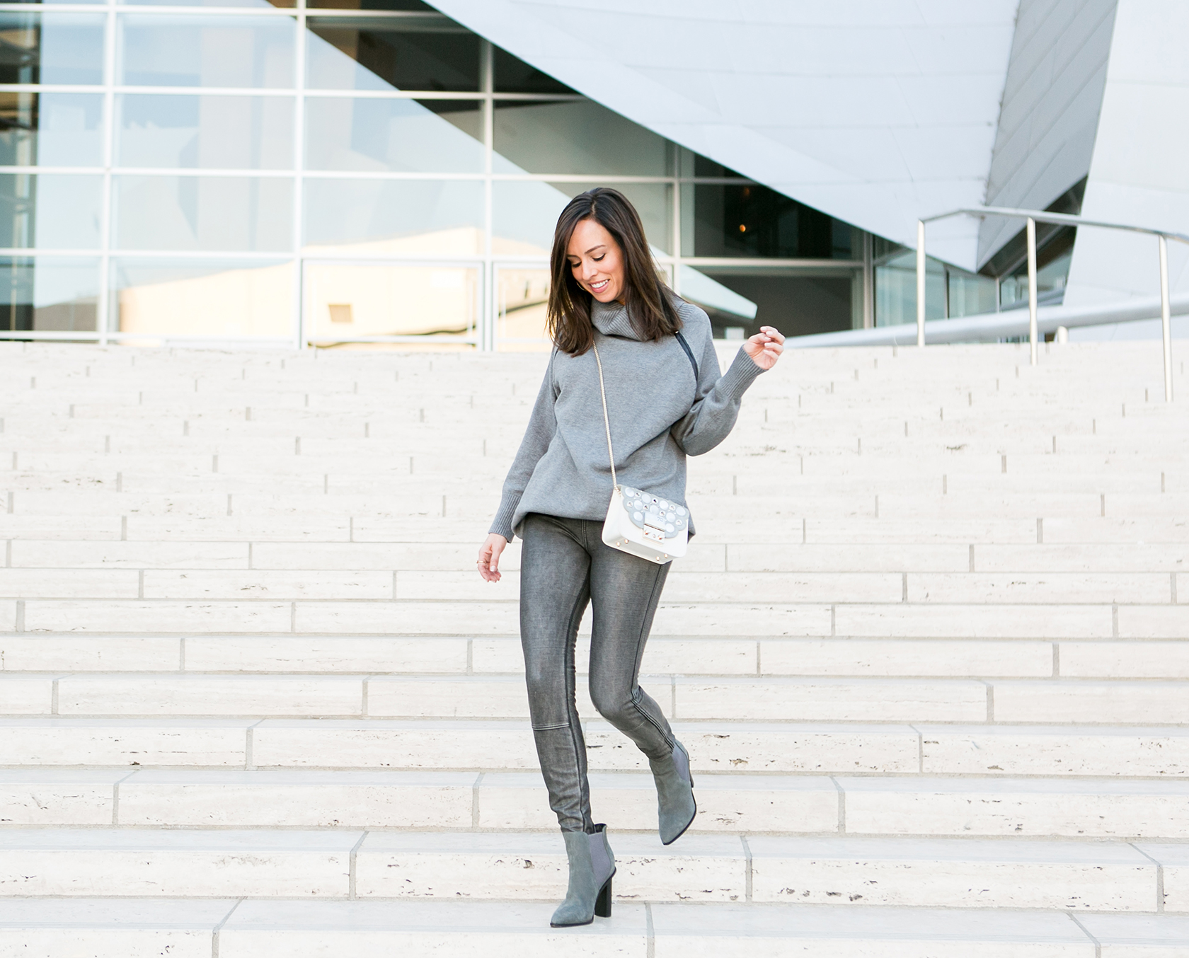 Leggings Outfit Party Turtleneck Sweater Dress Day To Night Fashion Trends