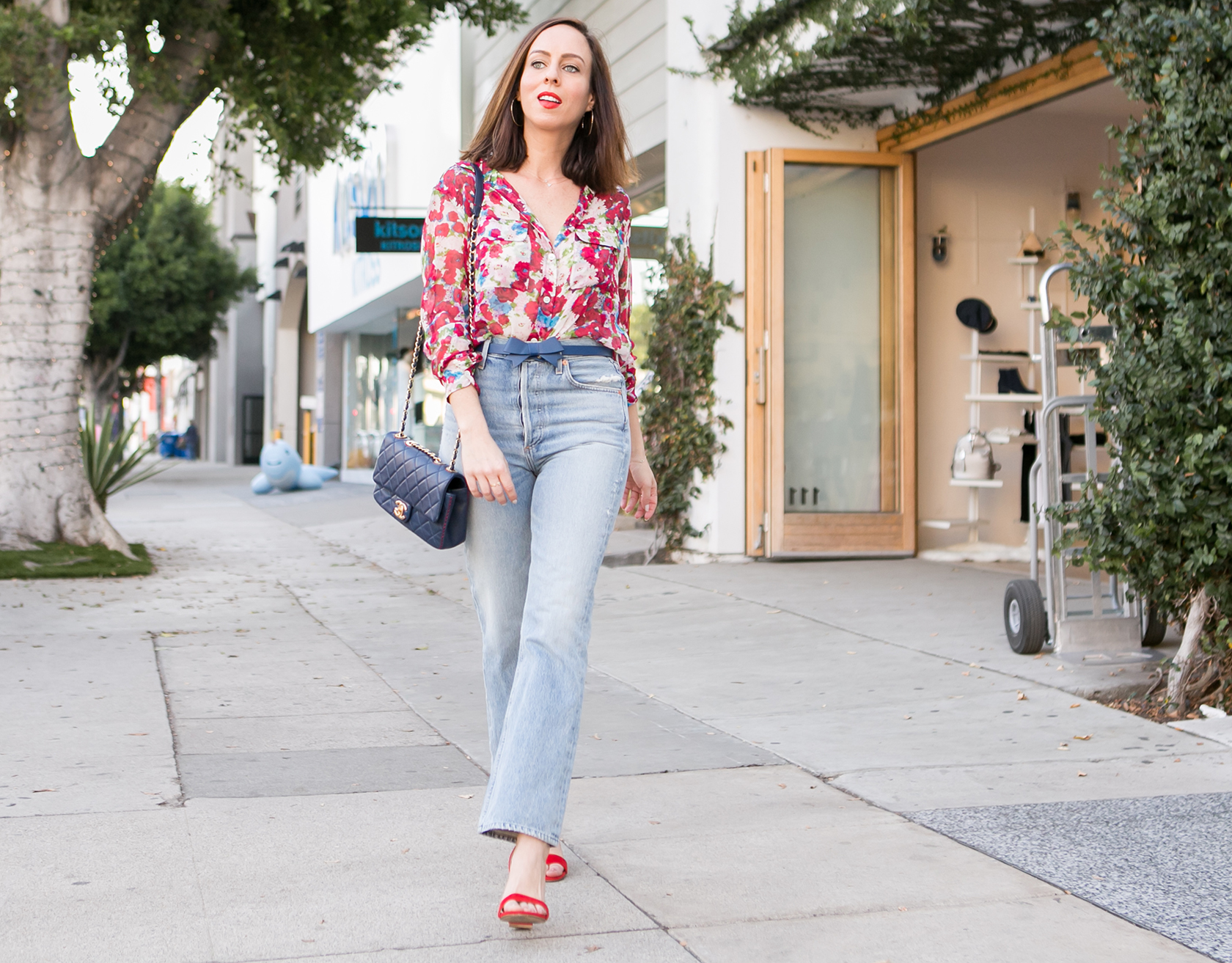Sydne Style Shows How To Wear High Wasit Denim If You're